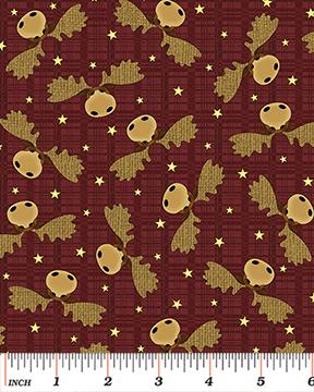 A Moose for Christmas by Cheryl Haynes  Dark Red Moose Heads