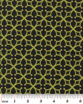 Forever Sunflowers Cross Lattice Black/Green