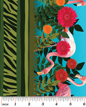 Jungle Stripe Green:  Sew Rousseau by Maria Kalinowski for Kanvas Studio in association with Benartex