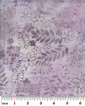Benartex Tropical Breeze Bali Leaf Vine Lilac