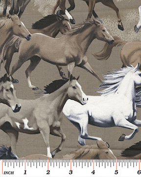 Benartex - Kanvas Stone Wild Horses