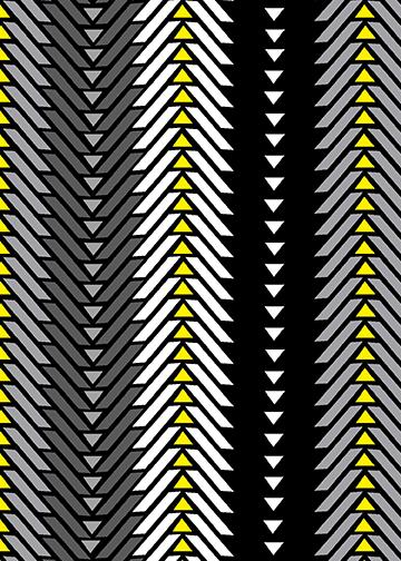 Black, Gray, White, Yellow Graphic Stripe:  Grafix Track by Greta Lynn for Kanvas Studio