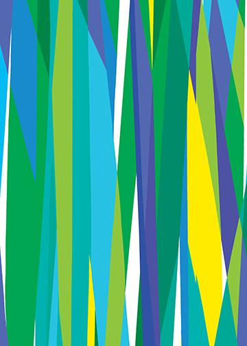 Marker Stripe Blue/Green
