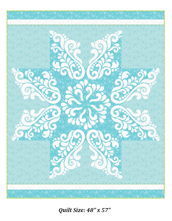 Snow Crystal Laser Cut Quilts