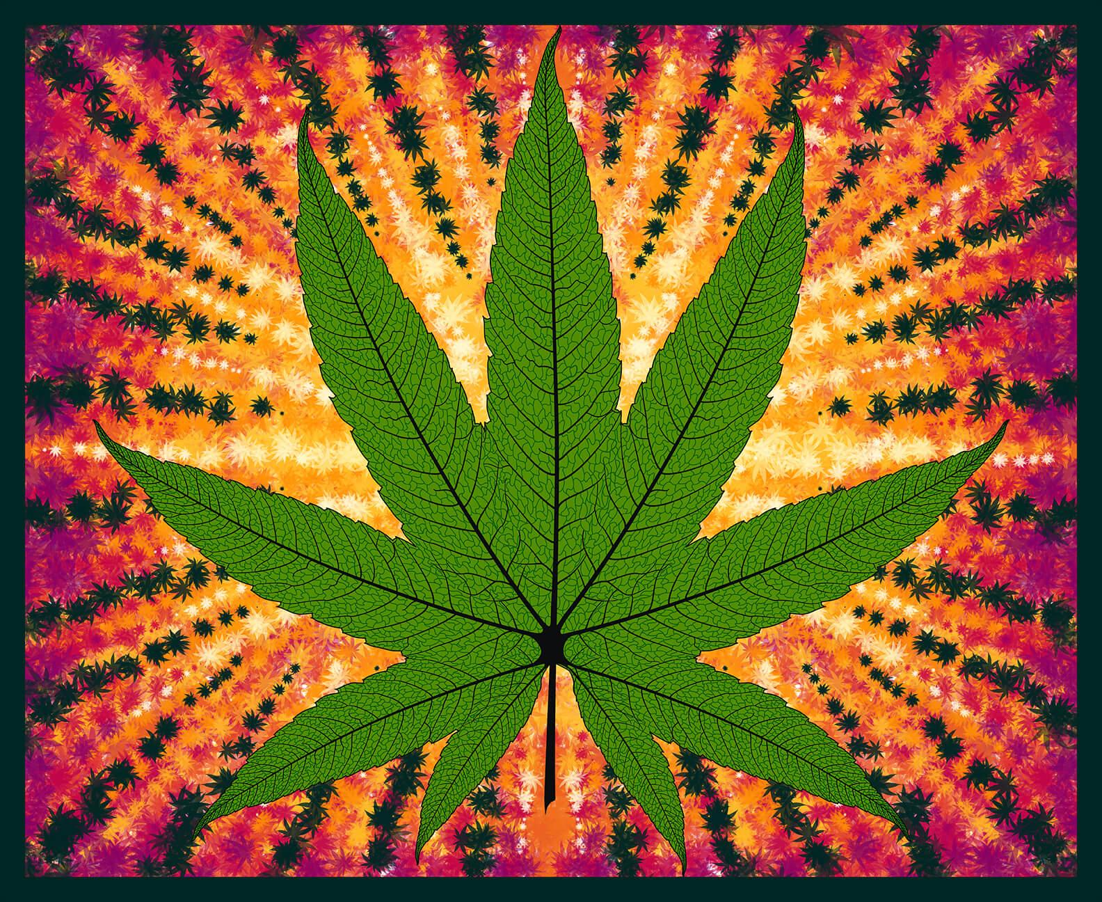 Cannabis Panel Herban Sprawl - 36 Green