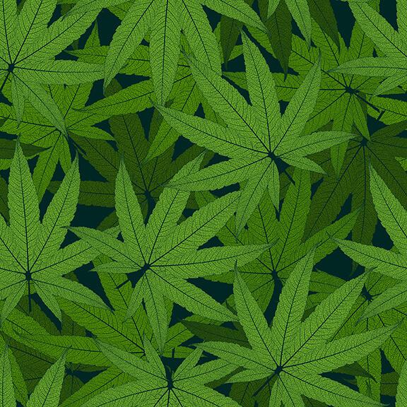 Cannabis Leaf Allover - Green