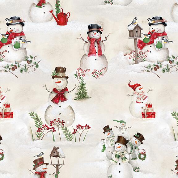 December Magic - Scenic Snowman 1044-41 Ecru