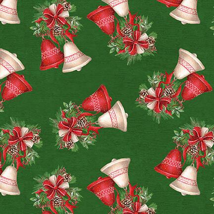 December Magic - Christmas Bells 1046-66 Green