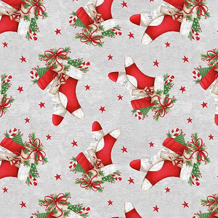 December Magic, Stockings, Light Gray