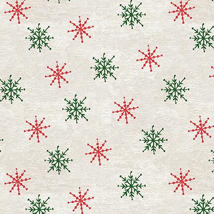 December Magic, Snowflake, Ecru 1052-41