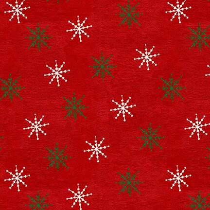 December Magic, Snowflake, Red 1052-88
