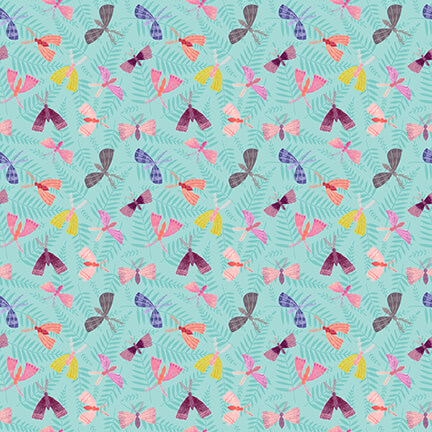 Owl Prowl- Tiny butterflies aqua