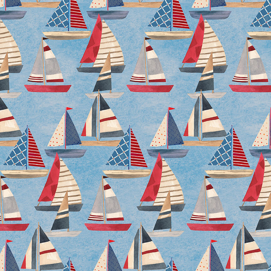 Harbor Days -- 1154-75 Sailboats/Blue