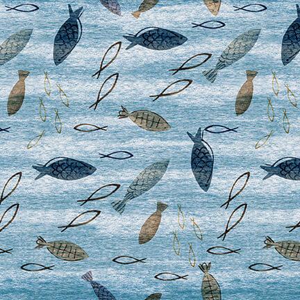 Harbor Days -- 1159-75 Fish/Blue