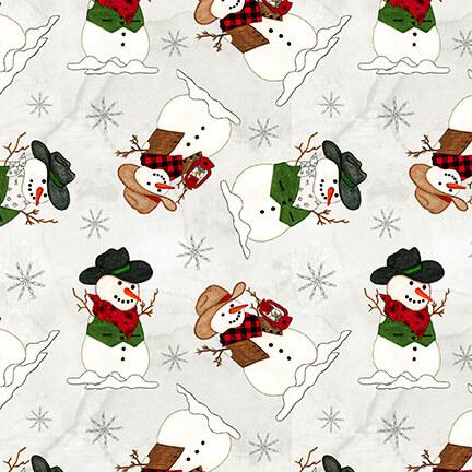 Giddy Up Santa! Snowman on White 1171-01