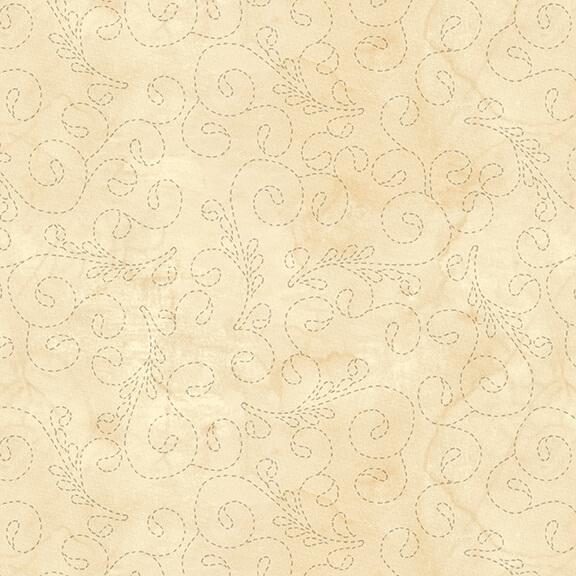 108 Stitch Quilt Back Ivory