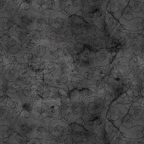 108 Stitch Quilt Back Charcoal