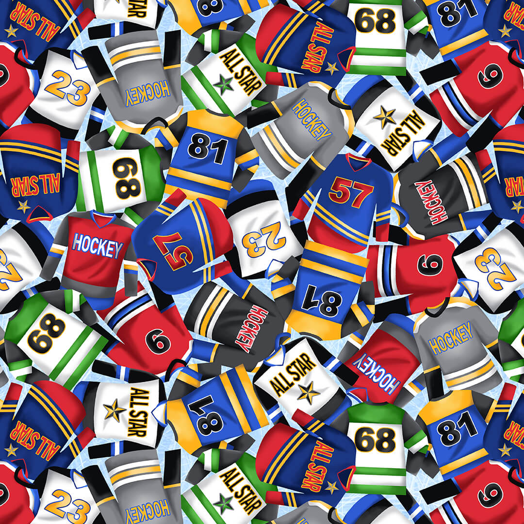Love of the Game 1246-70 Blue Hockey Jerseys