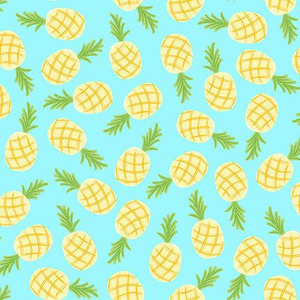 Let's Flamingle! Pineapples Aqua 1273-11