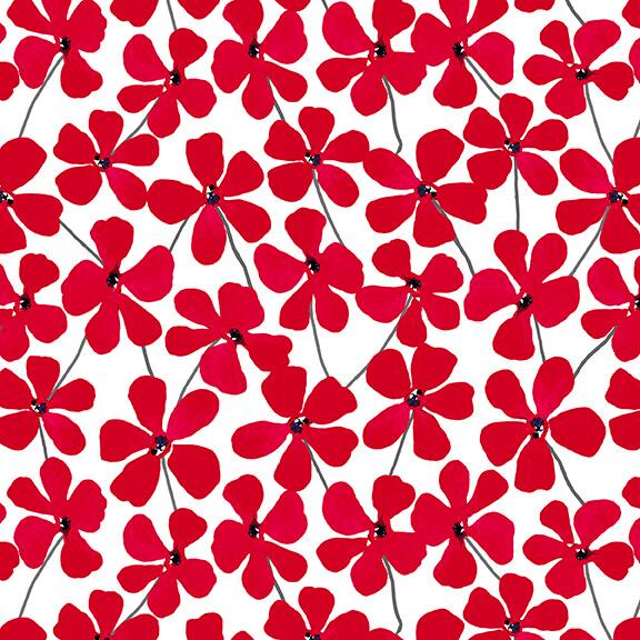 RED ALERT - Floral Allover White