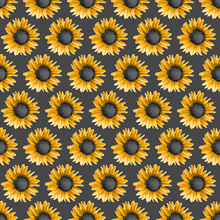 SHOWMETHEHON-B-1340-95 Gray with Sunflowers