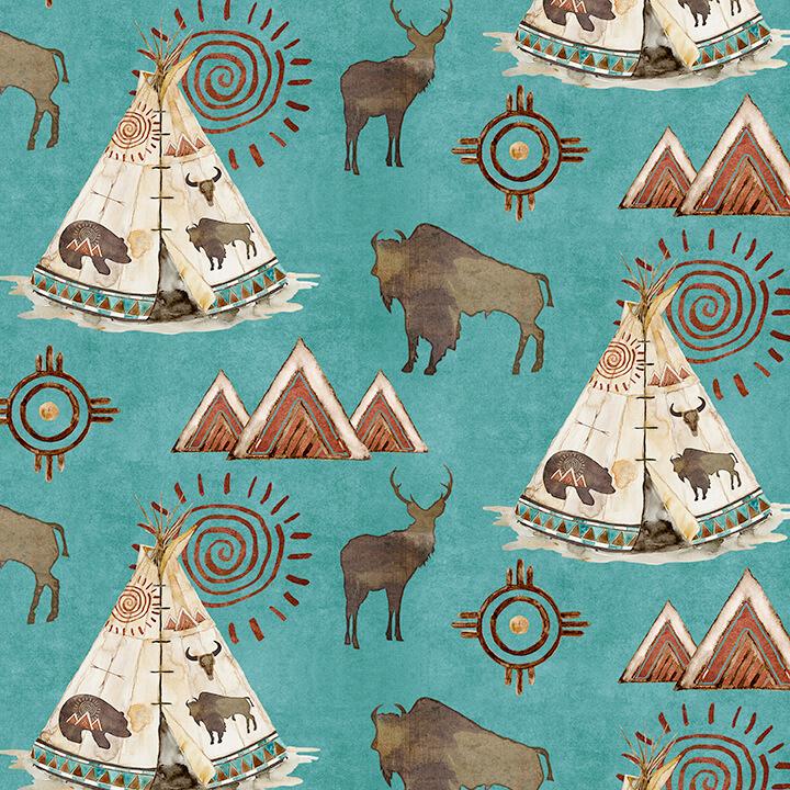 Buffalo Run - Scenic - Turquoise