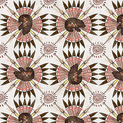 Buffalo Run 1381-41 Bear Geometric Ecru