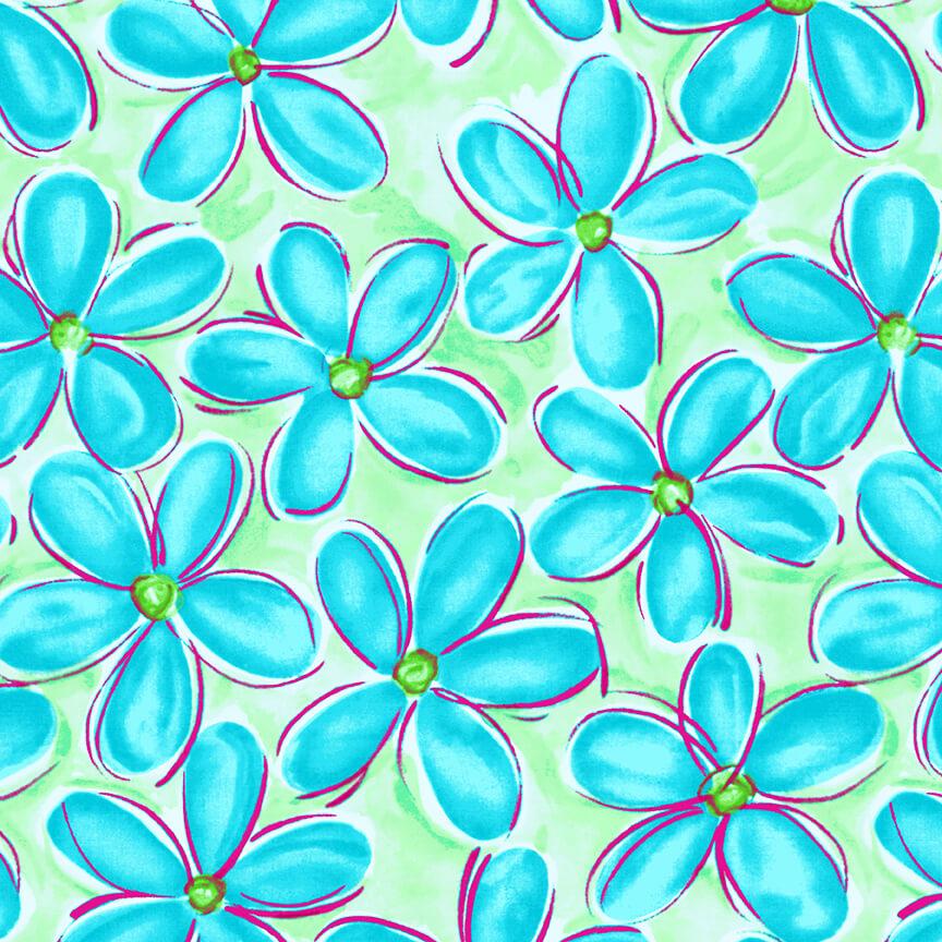 WHIMSY DAISICAL  -Large Daisy Blue