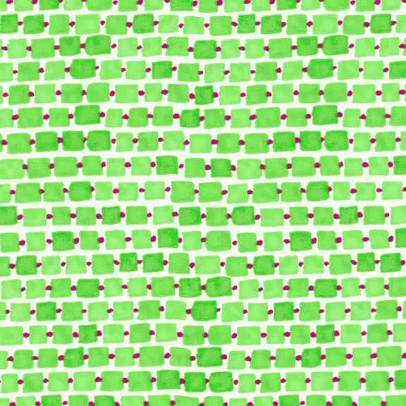 WHIMSY DAISICAL - Rectangles Green