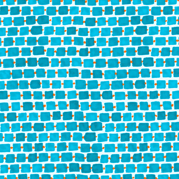 WHIMSY DAISICAL - Rectangles Blue