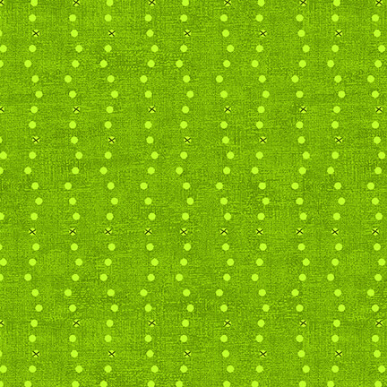 Fabric-Blank Basically Green Dots & Crosses