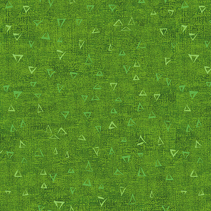 Fabric-Blank Basically Green Triangles