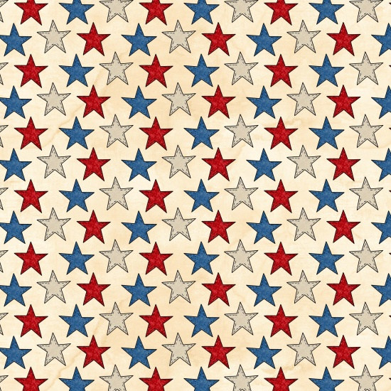 American Honor Red, Tan & Blue Stars by Tana Mueller