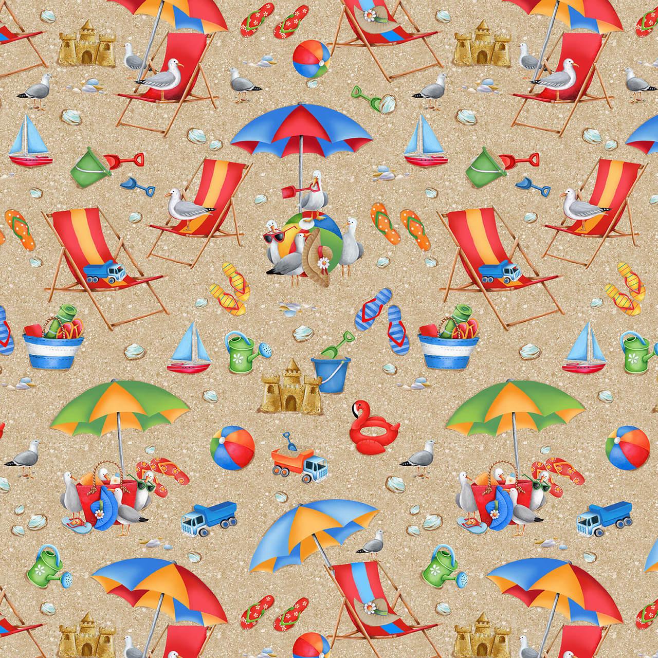 9527-41 beach chairs, toys, sand