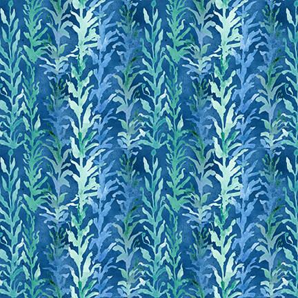 Sea Glass Tonal Seaweed - Blue