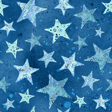 Sea Glass Stars - Blue