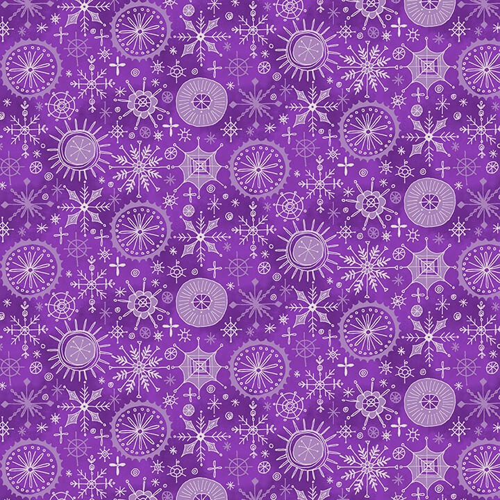 By Golly Get Jolly-Snowflakes-Purple 9562-55