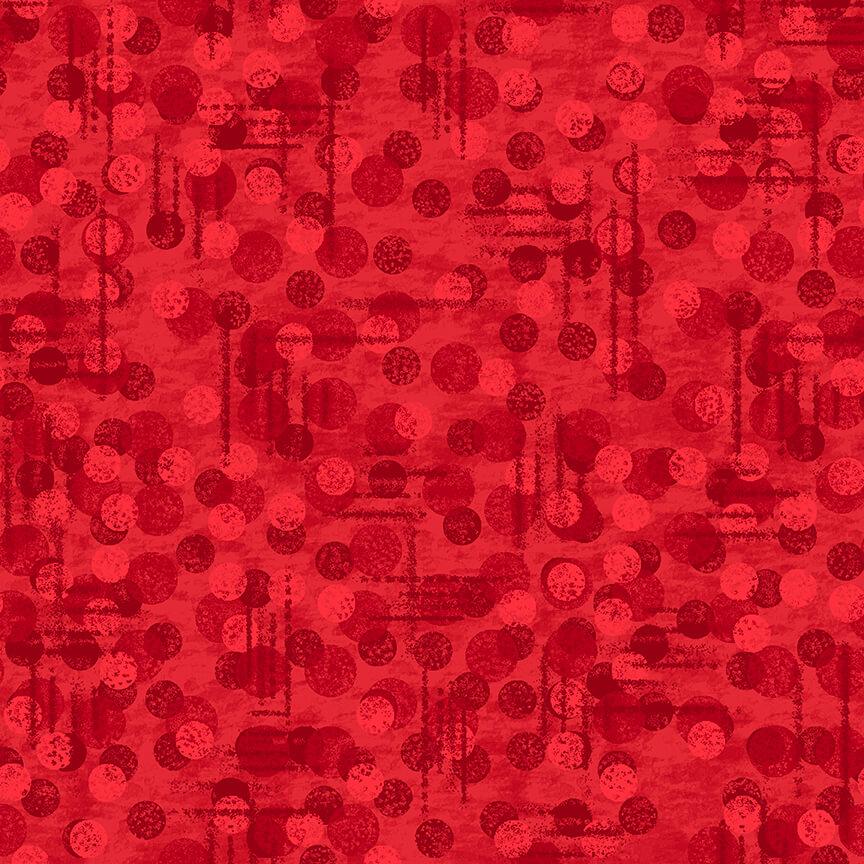 Blank Quilting Jot Dot Tonal Texture - 9570-88 Red