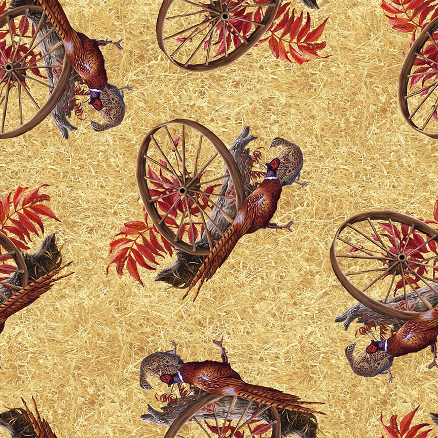 96Pheasant Run Pheasants with Wheel 9612-30 Tan