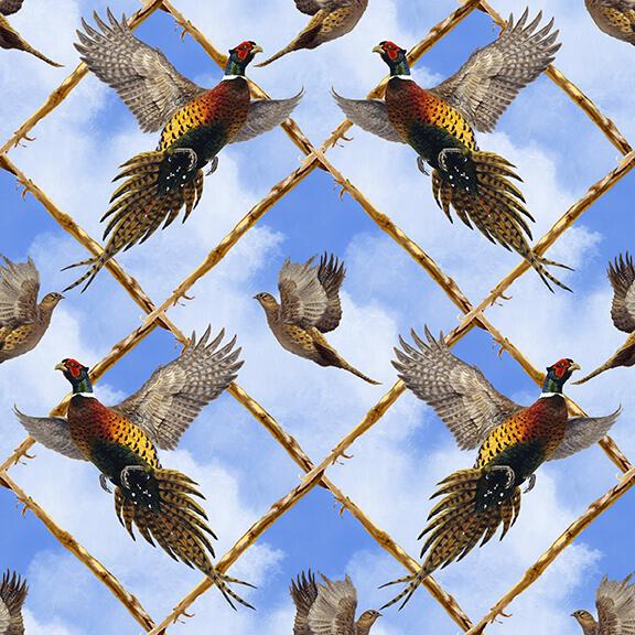 Pheasant Run Blue Flying pheasant Argule