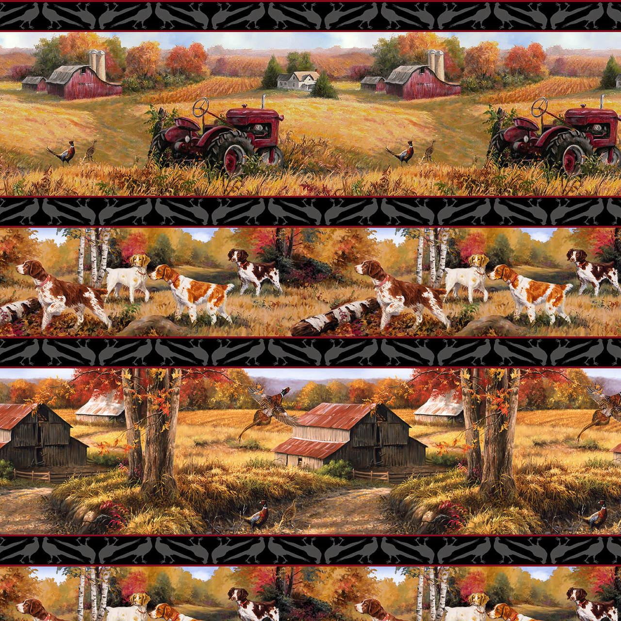 Pheasant Run /  Border Print