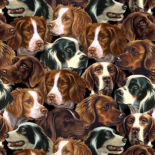 Pheasant Run / allover dog faces