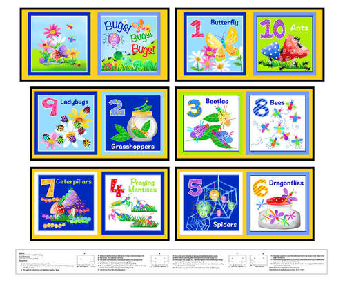 Bugs Galore Soft Cloth Book DIY 9620P-01 White
