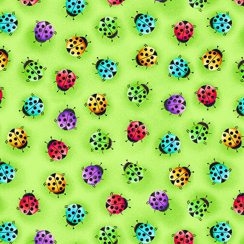 Bugs Galore-Green Ladybugs