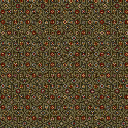 WINTER BLESSINGS GREEN/STARS 6374-66