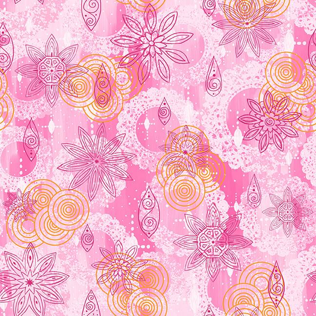 Blank Quilting- Mandala Tango- 9655-22 Pink