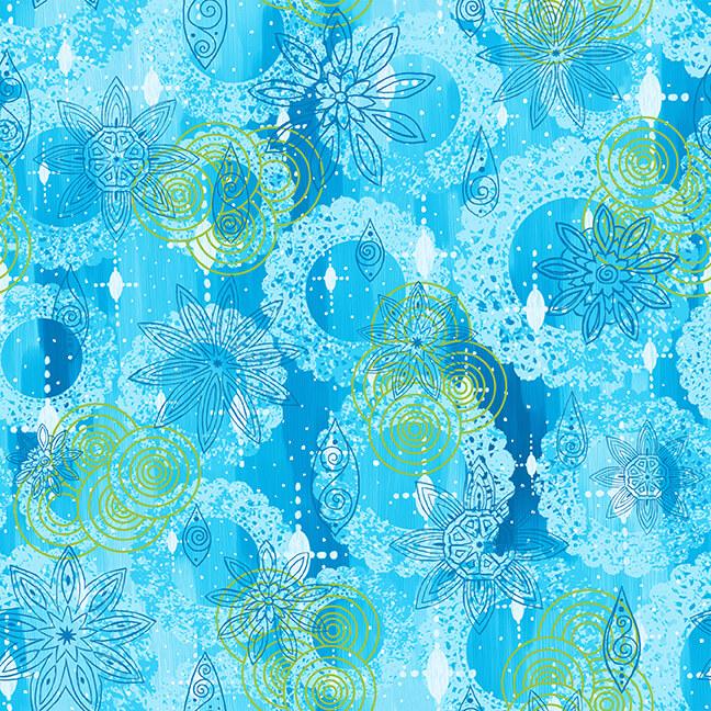 Blank Quilting- Mandala Tango- 9655-70 Blue