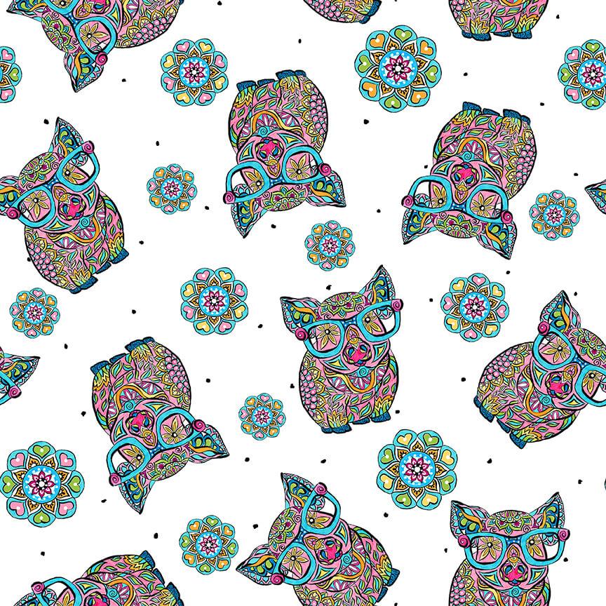 Hope Yoder Mandala Tango PIGS 9656-01