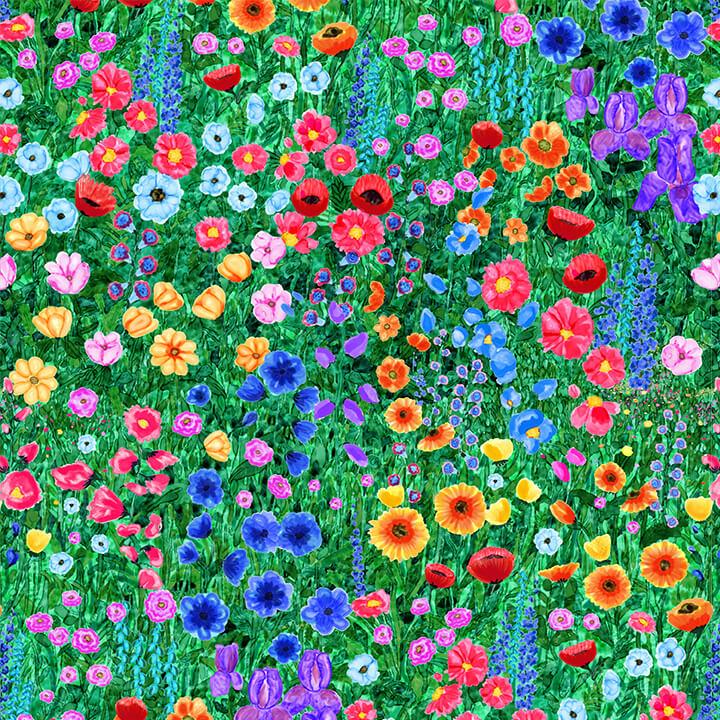 Wildflowers 9725-66 Green