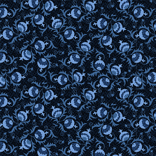 Once in a Blue Mood 9736-77 Buds Dk Blue